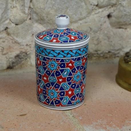 Boîte à tabac Seldjouk 12cm, céramique orientale