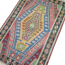 Tapis kilim, design original et coloré S21