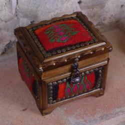 Coffret à bijoux ethnique Krysios rouge