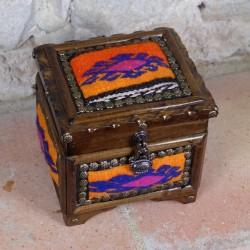 Coffret à bijoux en bois Krysios orange