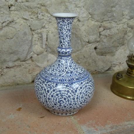 Soliflore en céramique d'Iznik Hava 30cm avec motifs spiralés orientaux