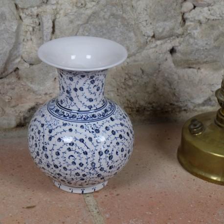 Cadeau artisanal, Vase à spirales oriental Hava 20cm