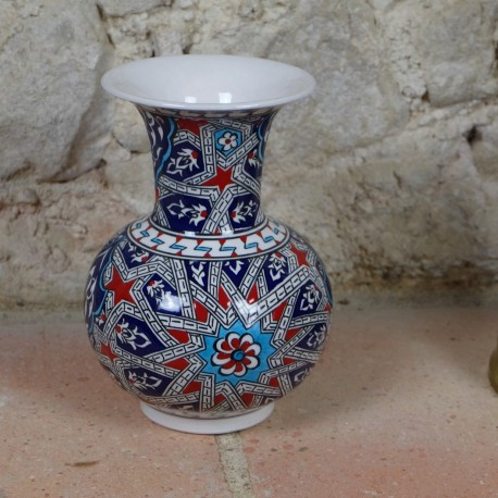 Vase marocain oriental Melis 20cm, décor géométrique