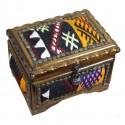 Grande boîte à bijoux Isios noire et jaune