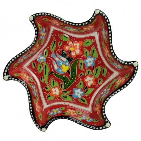 Bols originaux rouges Tezel en lune et étoile