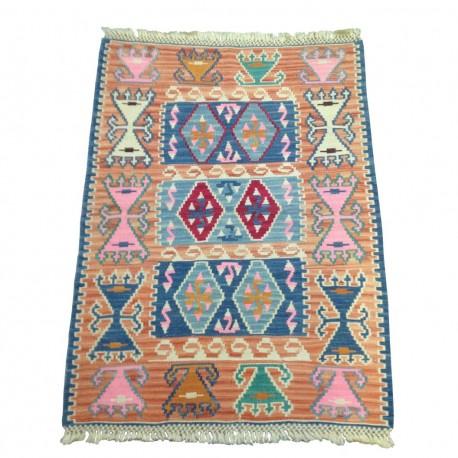 Petit tapis kilim oriental orange C38