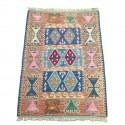 Petit tapis kilim orange C38