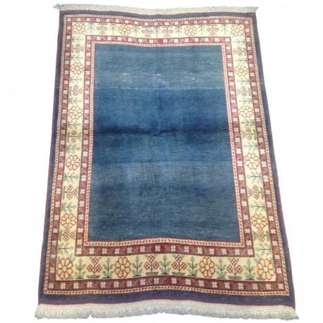 Tapis turc vintage bleu Oushak velours S01