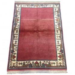 Tapis turc vintage rouge, tapis turc Oushak C03