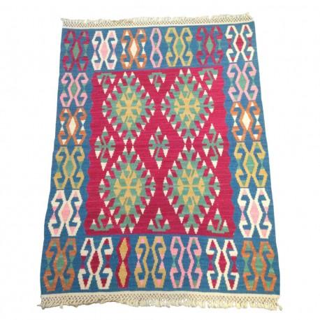 Petit tapis kilim oriental multicolore C39