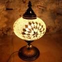 Lampe à poser orientale Idia blanche