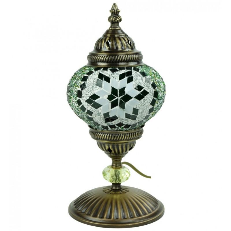 Lampe De Chevet Artisanale En Mosaique Verte Isnun
