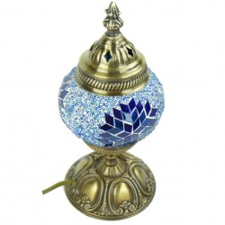 Petite lampe de chevet Jaria bleue