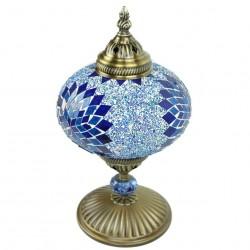 Lampe orientale en mosaïque bleue Idia