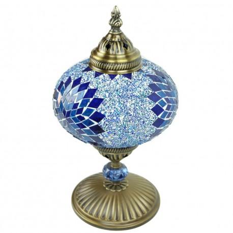 Lampe de chevet orientale en mosaïque bleue Idia