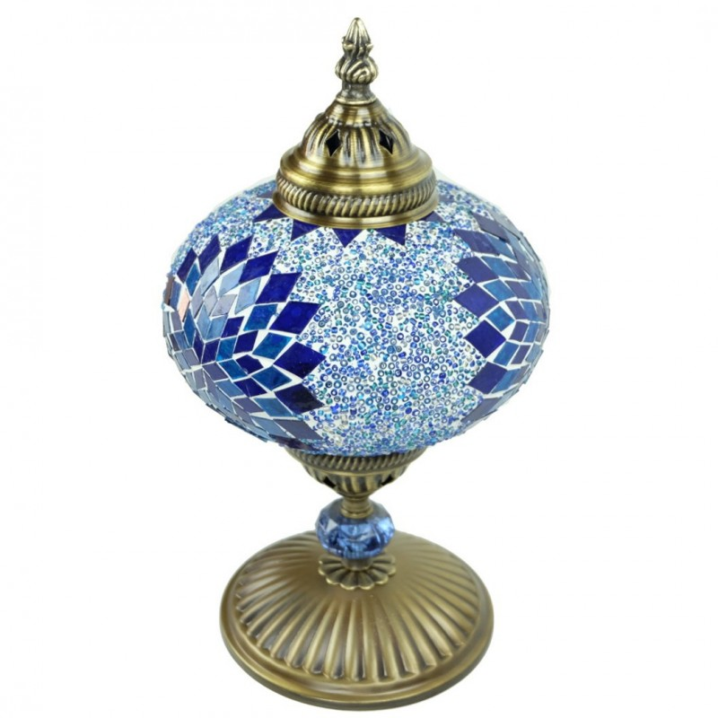 Lampe de chevet d co en mosa que bleue idia for Globe lampe de chevet