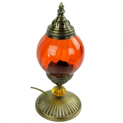 Lampe orientale de chevet orange Akaïa
