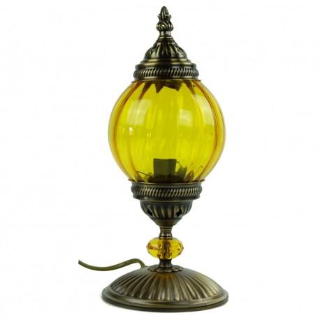 Lampe de chevet jaune Akaïa, déco orientale chic