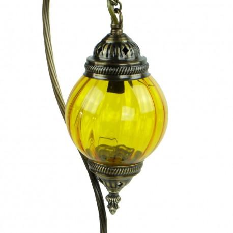 Lampe à poser orientale jaune Astana