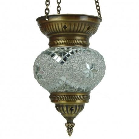 Lanterne orientale blanche Faïs, cadeau déco
