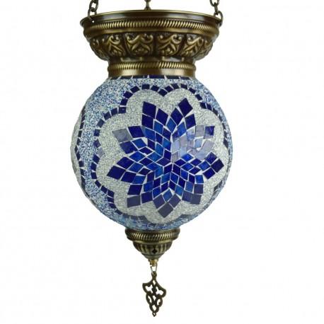 Lanterne turque bleue Istia, décoration ethnique