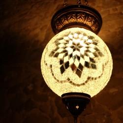 Lampe bohème Istia blanche