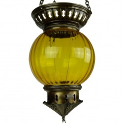 Lanterne orientale Kirisha jaune