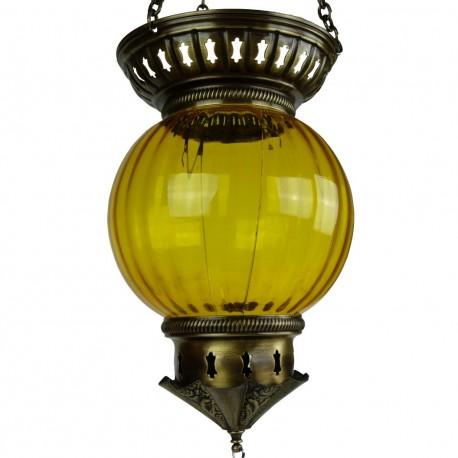 Lanterne orientale jaune Kirisha, déco orientale