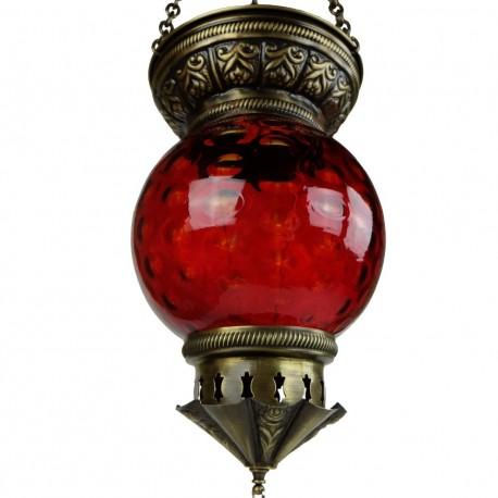 Lanterne orientale rouge Kirisha, déco ethnique chic