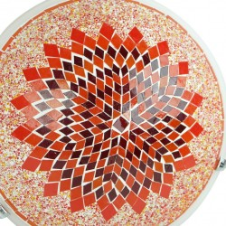 Plafonnier mosaïque rouge orange Eshtan
