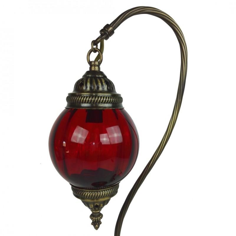 Lampe poser rouge astana for Lampe de chevet orientale