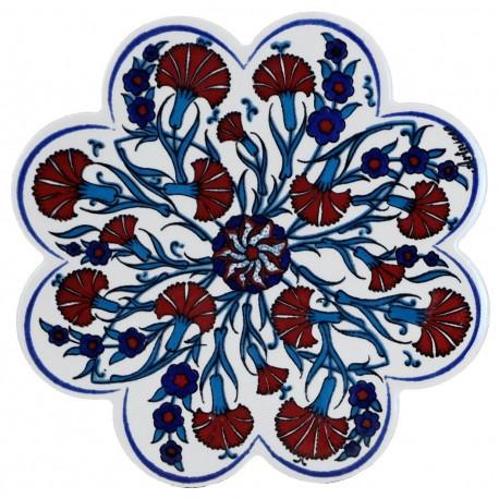 Dessous-de-plat ottoman en céramique Isba