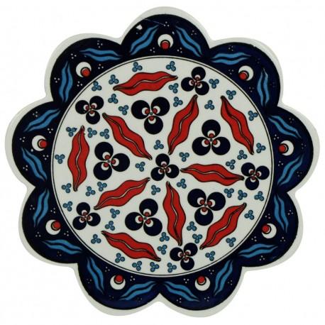 Dessous-de-plat déco en faïence orientale Syrtan