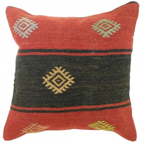 Coussin vintage kilim turc Kolon C041, décoration artisanale