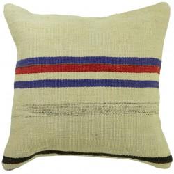 Coussin cosy en kilim artisanal Kolon C022, décoration bohème