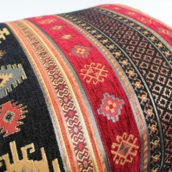Coussin oriental Bythinia noir et rouge