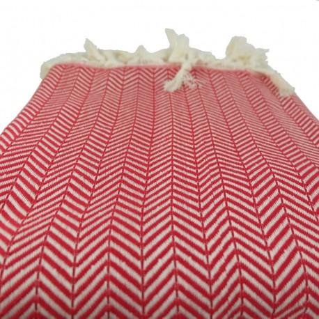 Plaid rouge oriental Safys pour décoration de canapé