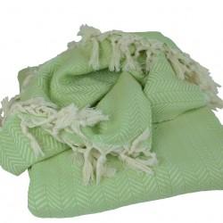 Plaid oriental Safys vert pistache