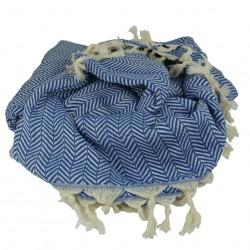 Plaid ethnique Safys bleu