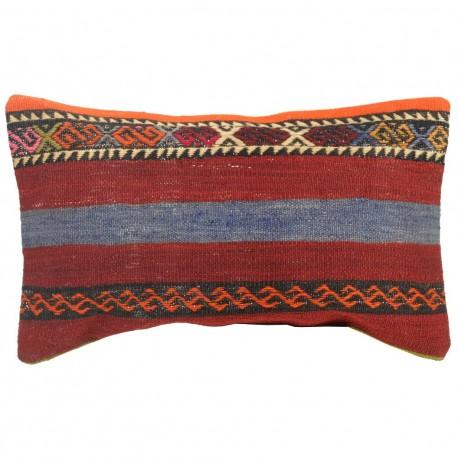 Housse de coussin kilim colorée Lumbar C018, décoration originale