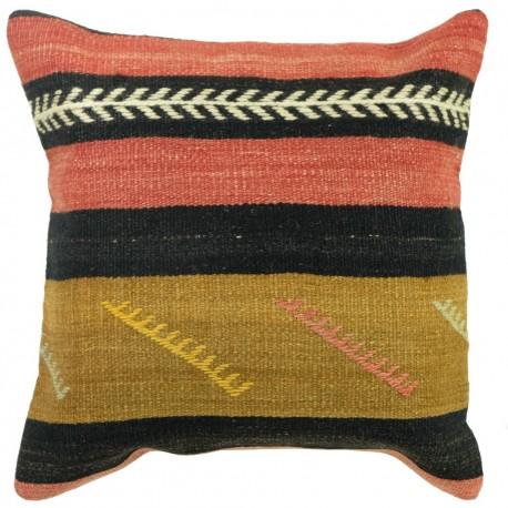 Coussin décoratif en kilim vintage Kolon B056, design ethnique