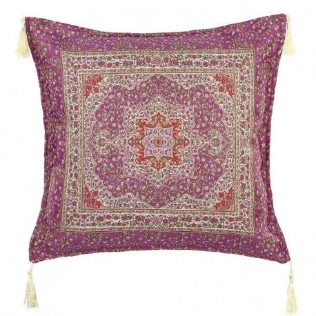 Coussin design oriental violet Lycia