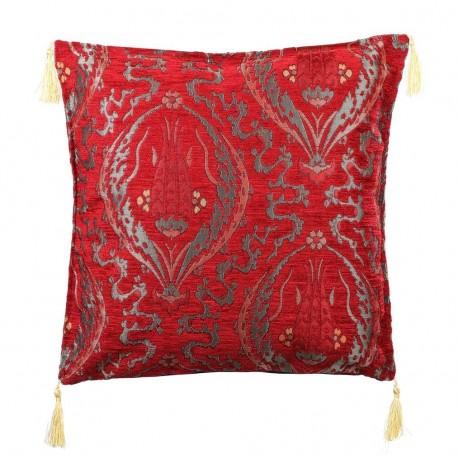 Coussin ethnique bohème rouge Galatia