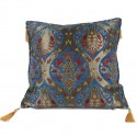 Coussin floral Ionia bleu
