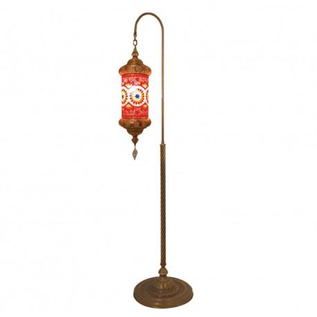 Lampadaire turc mosaique rouge Daloua
