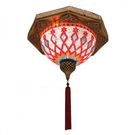 Plafonnier exotique en mosaique orientale Birabil