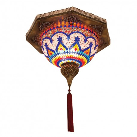 Plafonnier turc mosaïque orientale Soaril