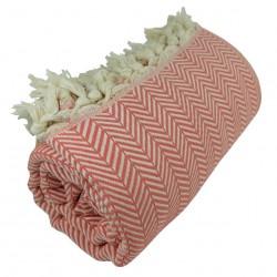 Plaid cosy Safys couleur corail