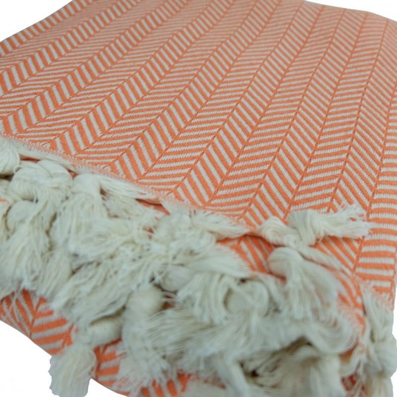 plaid orange ethnique safys. Black Bedroom Furniture Sets. Home Design Ideas