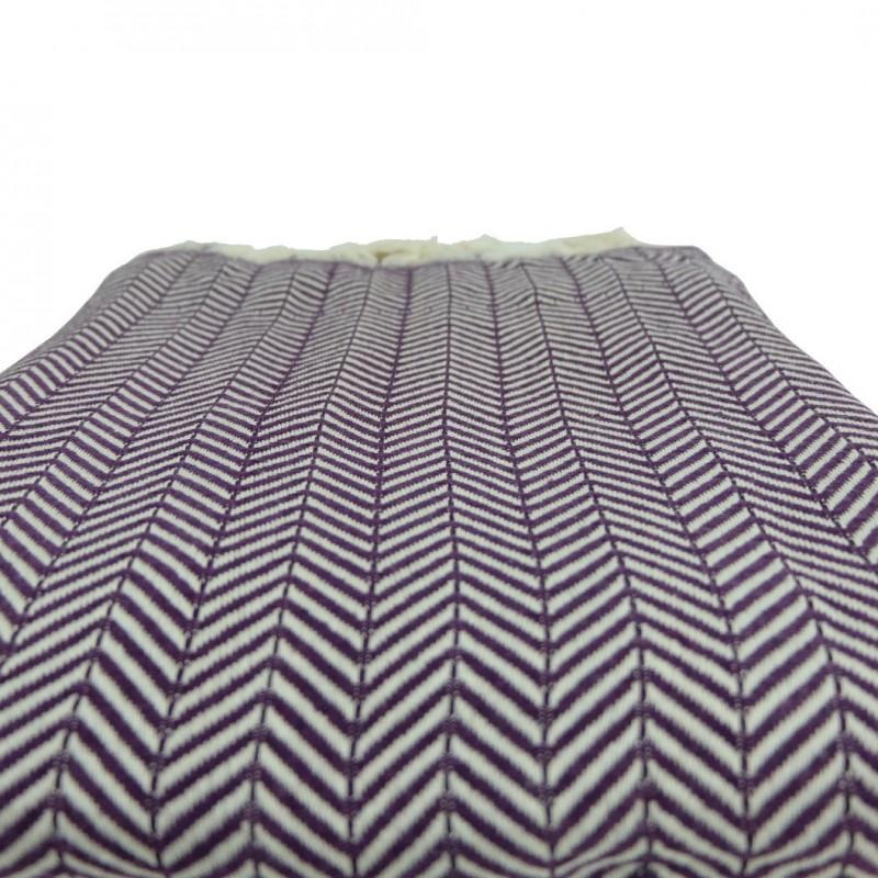 plaid d co violet safys. Black Bedroom Furniture Sets. Home Design Ideas